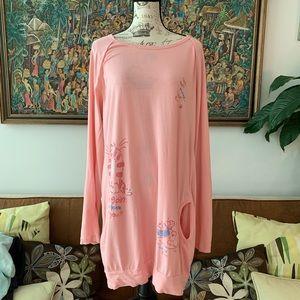 Cute pink sleep shirt dress